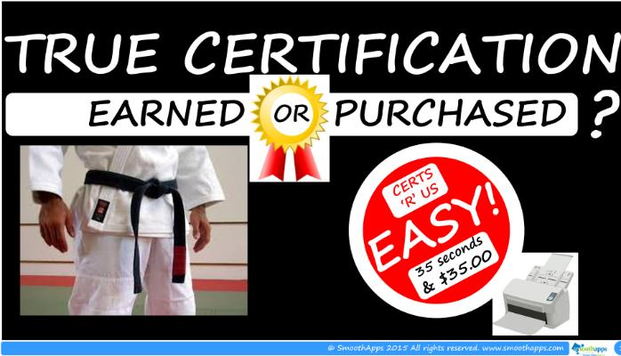 TRUE CERTIFICATION – EARNED OR PURCHASED?