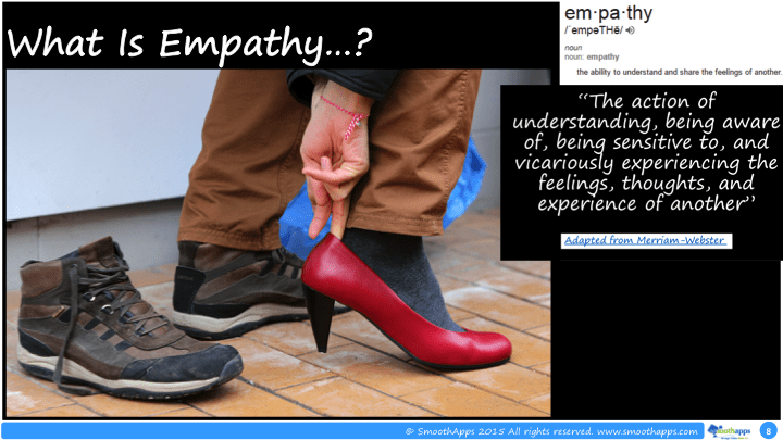 the development of empathy Studies show that around 2 years of age, children start to show genuine empathy, understanding how other people feel even when they don't feel the same way themselves and not only do they feel another person's pain, but they actually try to soothe it a sudden burst of sweetness out of a child whose mantra has been.