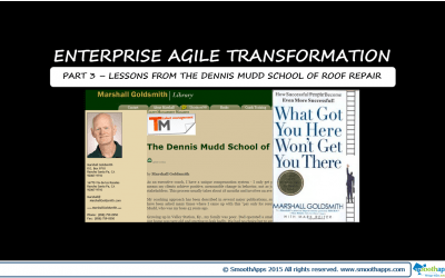 ENTERPRISE AGILE TRANSFORMATION PART 3 – LESSONS FROM THE DENNIS MUDD SCHOOL OF ROOF REPAIR