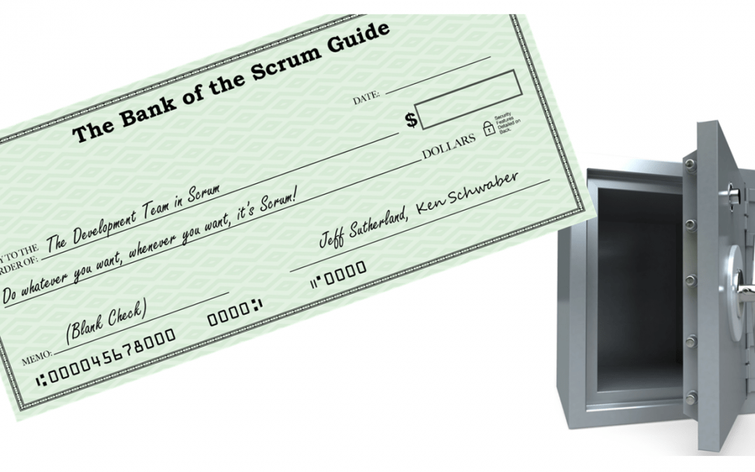 Scrum Is A Blank Check