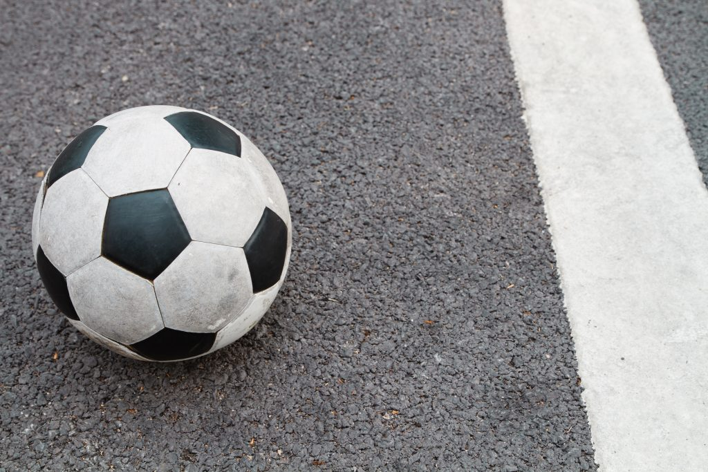 Soccer Ball on Road