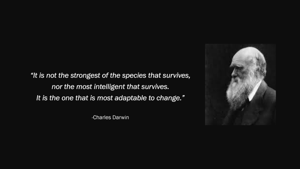 Charles Darwin quote adaptation
